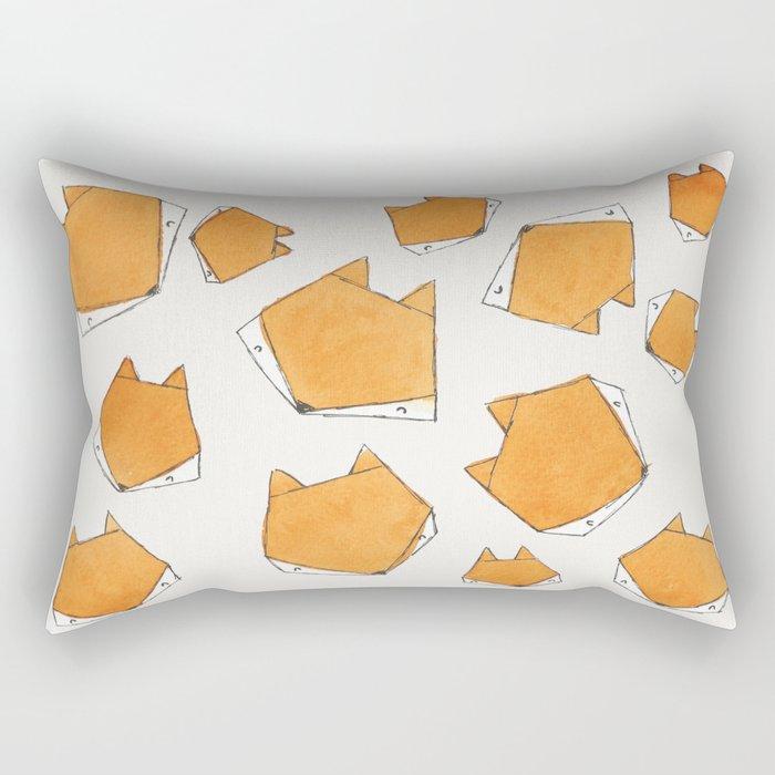 Fox Face Rectangular Pillow