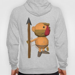 Caveman Low Poly Style Hoody