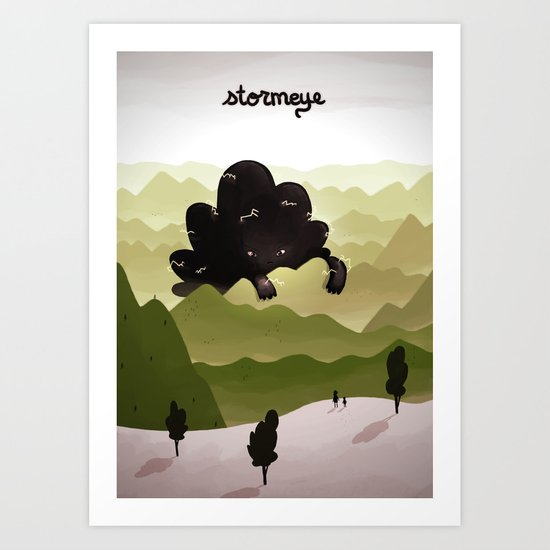 Stormeye Art Print