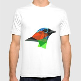 Bird art Saira Nature Animals Geometric T-shirt