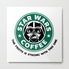 Star Wars Coffee Metal Print