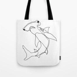 Hammerhead Shark (white) Tote Bag