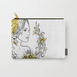 nature flower woman Carry-All Pouch