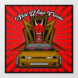 Nissan S14 (Side Ways Crooks) Canvas Print