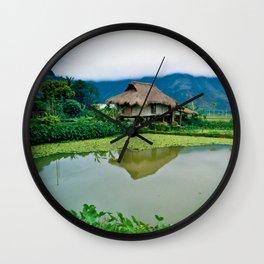 Mountain Village in Vietnam Wall Clock
