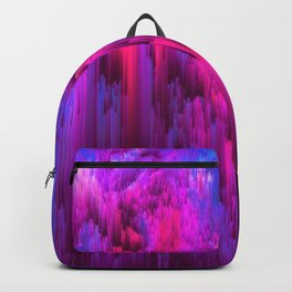 Outrun the Mist - Abstract Pixel Art Backpack