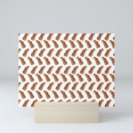 Conejito - White  Mini Art Print