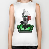 battlestar galactica Biker Tanks featuring The Hitchhikers Guide to the Galactica by JVZ Designs