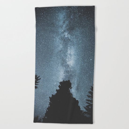 Stars over the Forest Beach Towel
