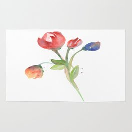 tulips on white Rug