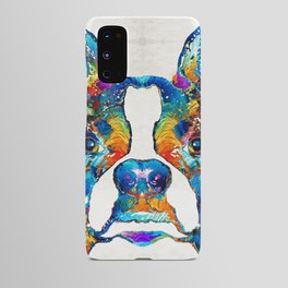 Colorful Boston Terrier Dog Pop Art - Sharon Cummings Android Case