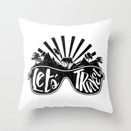 Let's Travel! Throw Pillow