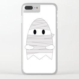Ghost in Mummy Costume Clear iPhone Case