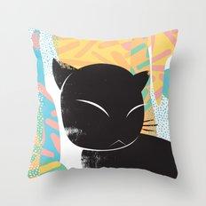 Memphis Cat Throw Pillow