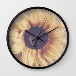 Soft Sunflower II Wall Clock