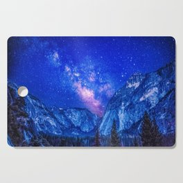 Milky Way Over Mountain Cutting Board