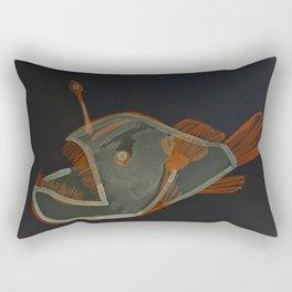 angler fish negative Rectangular Pillow