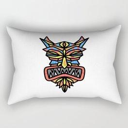 Tribal Demon Mask Rectangular Pillow