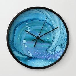 Curling Wave Wall Clock