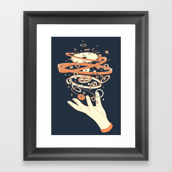 time controller Framed Art Print