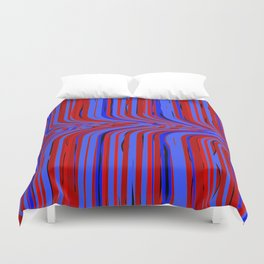 red and blue flowing Duvet Cover