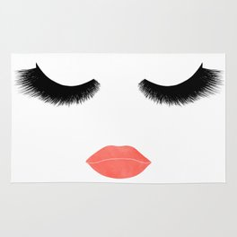 eyelashes with lips Rug