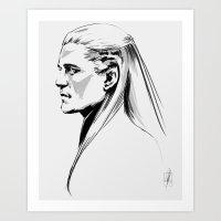 legolas Art Prints featuring Legolas by charlotvanh