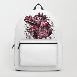 Dino with Headphones Puce Backpack