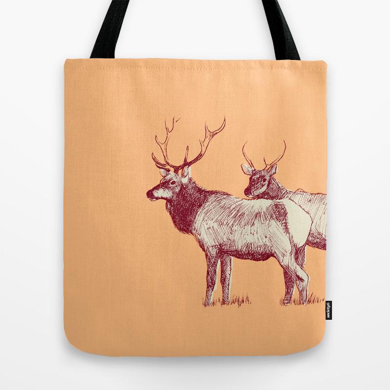 The Elk Tote Bag by Zeketucker TBG860567