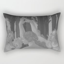 Black White Primavera Rectangular Pillow