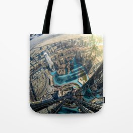 On top of the world, Burj Khalifa, Dubai, UAE Tote Bag