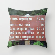 Trail Miles Throw Pillow