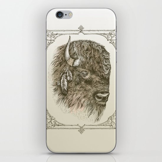 Portrait of a Buffalo iPhone & iPod Skin