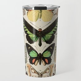 Papillon II Vintage French Butterfly Chart by Adolphe Millot Travel Mug