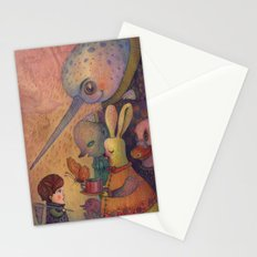 One spring day, while chasing butterflies Stationery Cards