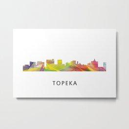 Topeka, Kansas Skyline WB1 Metal Print