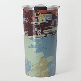 Cityscape abstract wall art print Travel Mug