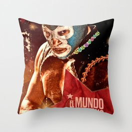 Wrestling fighter world Throw Pillow