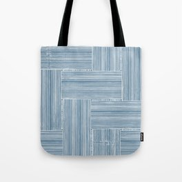 Steel Blue Wicker Surface Texture Tote Bag