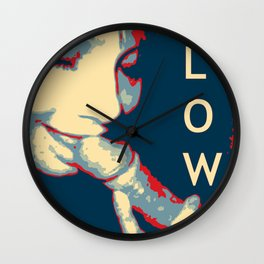 NSFW Obama style Blowjob poster Wall Clock