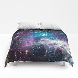 Lavender Teal Star Nursery Comforters