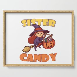 Will Trade Sister For Candy I Sibling Halloween Co Serving Tray
