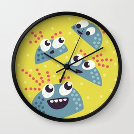 Happy Candy Friends Wall Clock