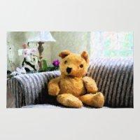 teddy bear Area & Throw Rugs featuring Teddy Bear by Charlie Cunningham