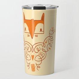 Ornate Fox Travel Mug