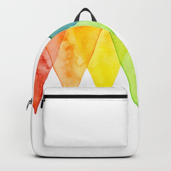 Geometric Watercolor Shapes Triangles Pattern Backpack