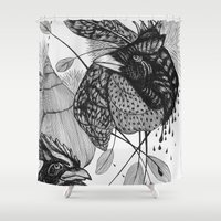 sketch Shower Curtains featuring Sketch by Cat Sims