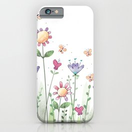 Wildflower Whimsy iPhone Case