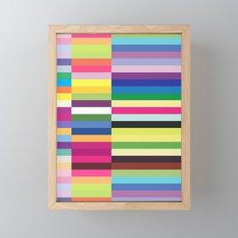 Colorful Striped Pastel Colors Rectangle Pattern Framed Mini Art Print