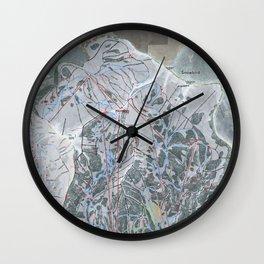 Snowbird Resort Trail Map Wall Clock